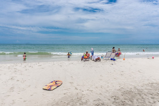 Boogie Boarding and Paddleboarding are very popular in St. George Island