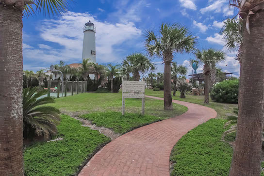 Visit the lighthouse in St. George Island